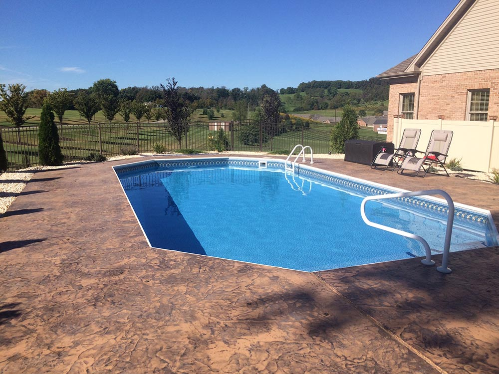 Inground Pool Grecian South Hills Pittsburgh