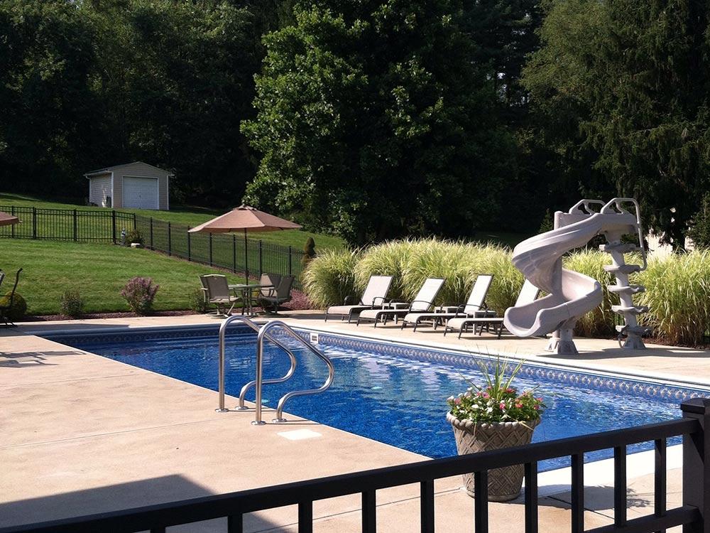 Inground Pool South Hills Rectangle Pittsburgh