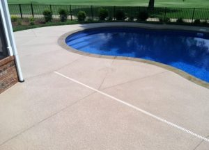 pool concrete finishing