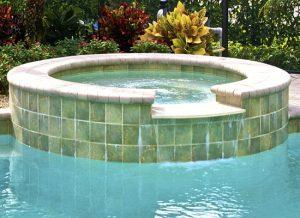 detail of swimming pool